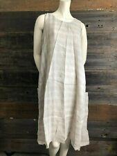 eskandar Sleeveless 100% Linen Dress Size 0 Small