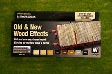 Vallejo Old & New LEGNO effetti Pittura Set Modello Colore 8 BOTTIGLIA SET 71187
