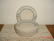 "6-PC EPOCH ""EARLY BLOSSOM"" 7 5/8"" SALAD-SERVING PLATES/KOREA/CRM-BLU/FREE SHIP!"