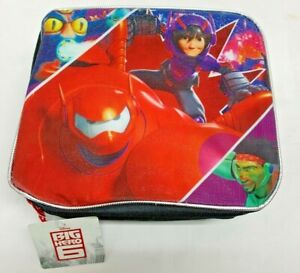 Disney Big Hero 6 Red Baymax Rectangular Lunch Box with Padded Top Handle