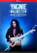 YNGWIE MALMSTEEN Blue Lightning 2019 Ltd Ed HUGE RARE Poster +FREE Rock Poster!