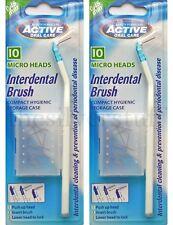 2x Active Interdental Brush + 10 Micro Heads 0.45mm + Storage Case Dental Care