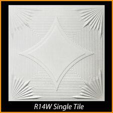 Ceiling Tiles Glue Up Styrofoam 20x20 R14 White Pack of 8