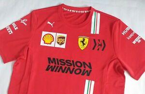 2020 Scuderia Ferrari F1 - Leclerc - Vettel - Puma team T-shirt, MISSION WINNOW