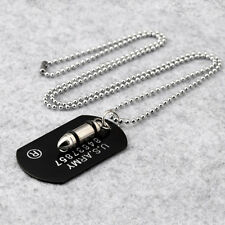 Military Army Style Dog Tags Long Sweater Chain Men Pendant Necklace Accessories