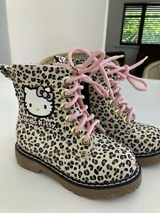 Hello Kitty Doc Marten Style Boots For Girls Brand New