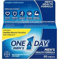 One A Day Men's Health Multivitamin/Multimineral Supplement Tablet, 60ct, 1 Pack
