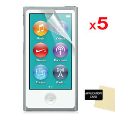 5 Pack of LCD Screen Protector Guards for Apple iPod Nano 7 7G 7th Gen