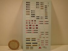 """DECALS 1/43  LOGOS """" BREMBO  -  FACOM  -  AREXONS  -  MOMO """" - VIRAGES  T170"""