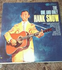 HANK SNOW LP The One And Only 1962 CAL 722 Mono Record FREE SHIP Wreck Ol '97