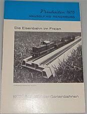 Mausolf KG Rendsburg Neuheiten 1970 Gartenbahn      å