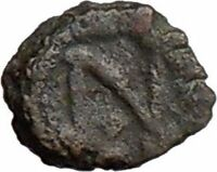 LEO I 457AD Rare Authentic  Ancient Roman Coin w MONOGRAM  i20603