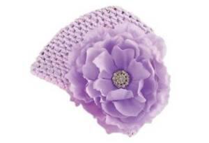 Mud Pie Baby Buds Purple Mesh Jeweled Flower Hat