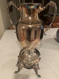 """Vintage Sheridan Coffee Hot Water Urn Silver On Copper Antique SilverPlate 17"""""""