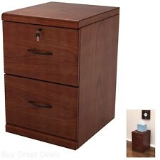 Home Office Filing Cabinet Cherry Wood Top Drawer Hanging File Storage Organizer