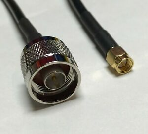 N Male to SMA Male RFC195 Coax Low Loss RF Pigtail Cable USA