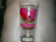 Deadmau5 glass - rave- music-  Pink colored mouse head logo