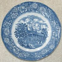 """Staffordshire LIBERTY BLUE Ironstone 6 3/8"""" COUPE CEREAL BOWL """"Mount Vernon"""""""