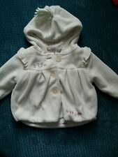3-6 months girl winter spring white fleece coat jacket with hoodie  from next