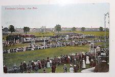 21988 AK Pferde Rennbahn Leipzig Am Ziel 1909