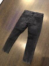 Banana Republic, Skinny Jeans, 29 Petite, Ripped Charcoal Gray, Ankle Length