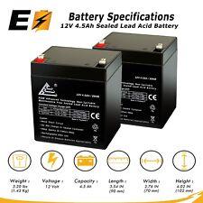 Set of 2 12v 4.5Ah SLA for Razor E100 E125 E150 E175 Electric Scooter Batteries