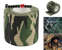 5CMx4.5M Tactical Camouflage Stealth Tape Outdoor Hunting Camping Wrap Woodland