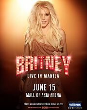 """BRITNEY SPEARS """"LIVE IN MANILA"""" 2017 CONCERT TOUR POSTER - Pop, Dance Music"""