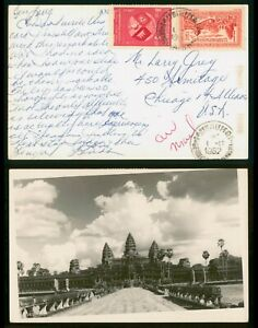 Mayfairstamps Cambodia 1962 to US Real Photo Postcard wwp79107