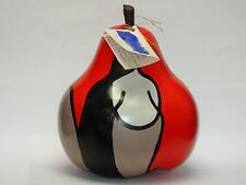 SUPERB SIGNED ANNETTE RAWLINGS 2006 CERAMIC PEAR POP ART SCULPTURE * LISTED