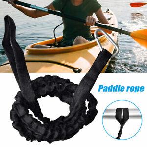 UK Elastic Coiled Paddle Leash Kayak Canoe Lanya-rd Safety Fishing Rod Cord Rope