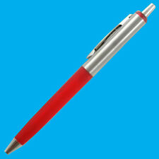 2x Red & Silver Top Quality Metal Top & Tip Retractable Ball Point Pens Blue Ink