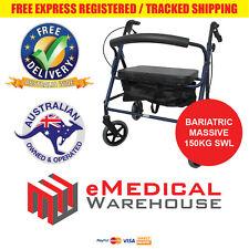 Bariatric Titan Rollator - 150kg SWL extra wide aluminium walking frame