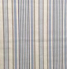 3.7 metre roll Clarke & Clarke Studio G Belle Stripe fabric col Chambray (ref20)
