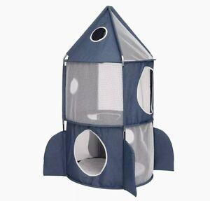 Catit Vesper Rocket Cat Tower Grey Pet Cat Play Fun Tent
