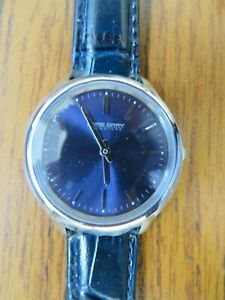 Jorg Gray  33mm Blue Dial watch with Navy lether band
