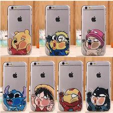 Funda Carcasa Disney Transparente Silicona TPU Para Apple iPhone 5 6 7 8 Plus