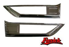 1970-1971 Olds Cutlass Supreme & SX Front Fender Side Marker Molding Set 70 71