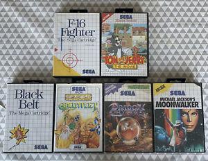 Lot jeux videos SEGA MASTER SYSTEM ( GAUNTLET DRAGON CRYSTAL MOONWALKER etc )