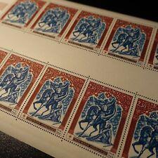 FEUILLE SHEET MONACO N°742 x10 CROIX ROUGE MONÉGASQUE 1968 NEUF ** LUXE MNH