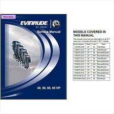 Evinrude E-tec 40 50 60 65 HP Outboard Motor Service Repair Manual CD - BRP ETEC
