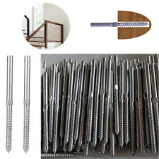 """Stainless Steel G316 Lag Screw Right & Left Hand Swage for 1/8"""" 3/16"""" Cable"""