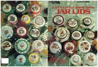CROSS STITCH JAR LIDS LEAFLET