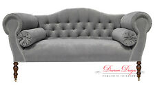 Gorgeous Bespoke Light Grey Velvet Double Ended Chaise Sofa  **HAND MADE IN UK**
