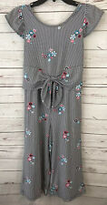 Girls size 10/12 Romper jumpsuit Capri Pant Floral Striped
