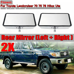 2x Door Rearview Front Side Mirrors For Toyota Land Cruiser 70 75 78 HILUX UTE
