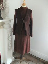 Ladies Vintage 2 piece knitted suit size 12 by Fulton London