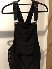 Next Black Cord Dungaree Dress Size 8Tall