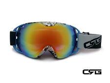 CRG Ski Snow Snowboard ANTI-FOG DOUBLE LENS TRIPLE-LAYER FOAM Goggles CRG80-8A