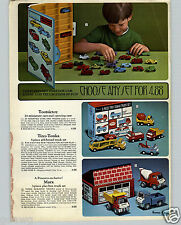 1968 PAPER AD Tootsietoy Mini Car Toy Carry Case Tiny Tonka Truck Set Marx